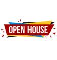 open house banner design vector image