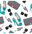 pattern fashion female items vector image