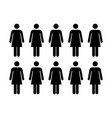 people icon - group of women team vector image vector image