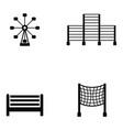 playground icon set vector image