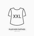 plus size clothes store flat line icon women xxl vector image
