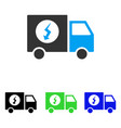 power supply van flat icon vector image vector image