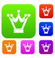 princess crown set color collection vector image vector image