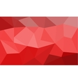 Red low poly background vector image vector image