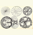 retro elements - hand drawn pack vector image vector image