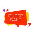 sale banner design template flat speech bubble vector image vector image