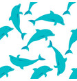 seamless pattern with dolphins vector image vector image