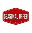 seasonal offer label or sticker vector image