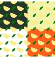 Set of lemons seamless patterns vector image vector image