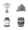 sport medicine and other monochrome icon in vector image vector image