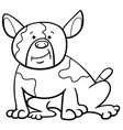 spotted dog cartoon coloring page vector image vector image
