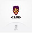 strange man logo vector image