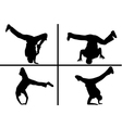 streetdancer silhouette vector image vector image