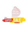 super sale discount red and yellow tag flat vector image vector image