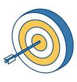 target dartboard symbol vector image vector image