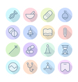 Thin Line Icons For Medical vector image vector image