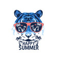 tiger for t-shirt design vector image vector image