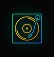 turntable colored icon in thin line style vector image