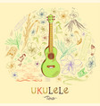 ukulele tenor in round shape pattern vector image