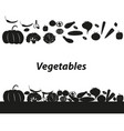 vegetables icon set on white background vector image vector image