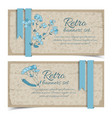 vintage natural horizontal banners vector image vector image