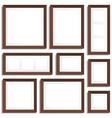 Wenge frames set vector image vector image