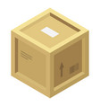 wood parcel box icon isometric style vector image vector image