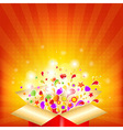 Colorful Gift Red Box vector image