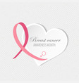 breast cancer awareness background vector image