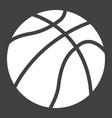 basketball ball solid icon sport and game vector image