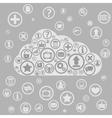cloud apps vector image