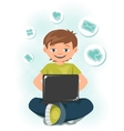 Laptop Teen vector image