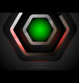abstract green lighting vector image vector image
