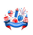 american decoration for independence day vector image vector image