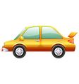 An orange car vector image vector image
