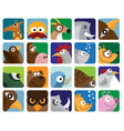animal icon pack vector image vector image