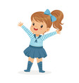 beautiful little girl character wearing a sailors vector image vector image