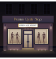 Beauty Store Front View Template vector image vector image
