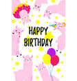 birthday cartoon greeting card design vector image vector image