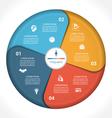 business pie chart diagram data 4 vector image vector image
