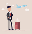 businessman or manager missed a plane man was vector image