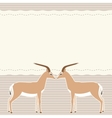 Card with two gazelles vector image vector image
