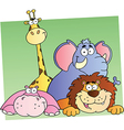 Cartoon Jungle Animals vector image vector image