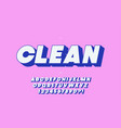 clean 3d bold font for decoration vector image vector image