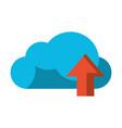 cloud computing upload symbol vector image vector image