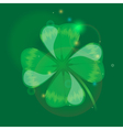 clover glossy simbol vector image vector image