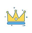 crown icon design vector image vector image