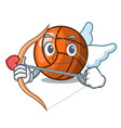 cupid volleyball character cartoon style vector image