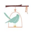 Cute blue bird vector image
