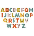 decorative color forest alphabet vector image vector image